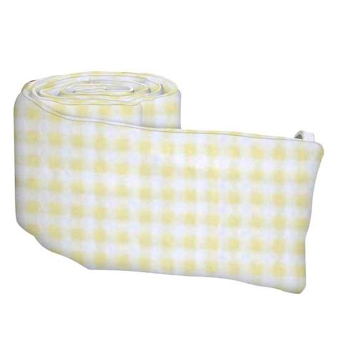 Gingham Crib Bumper by Yellow Gingham Jersey Crib Bumpers Sheetworld