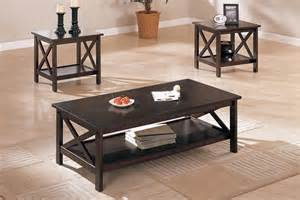brown coffee table set 3 pcs table set x design accents brown coffee end