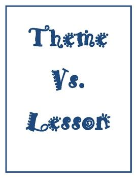 themes vs morals theme vs lesson moral by sandy chasteen weaver tpt