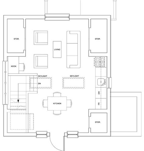 upstairs floor plans small house just 500 sq ft with a garage but seems bigger
