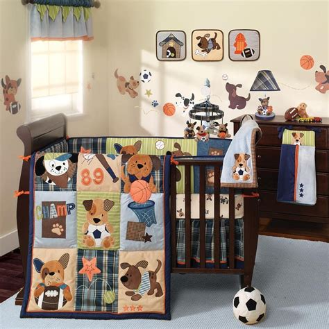 Lambs S S Noah 9 Crib Bedding Set by Lambs 174 Bow Wow Buddies 9 Crib Bedding Set