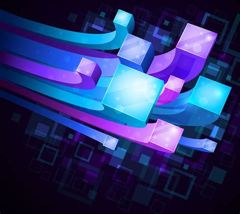 beautiful technology 3d technology background free vector free vectors