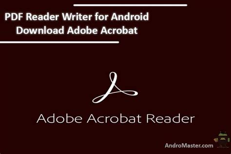 best free pdf reader for android pdf reader writer for android adobe acrobat