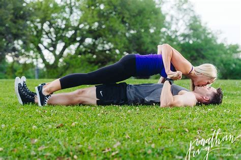 Fitness Engagement Photos in Houston   John & Carrie