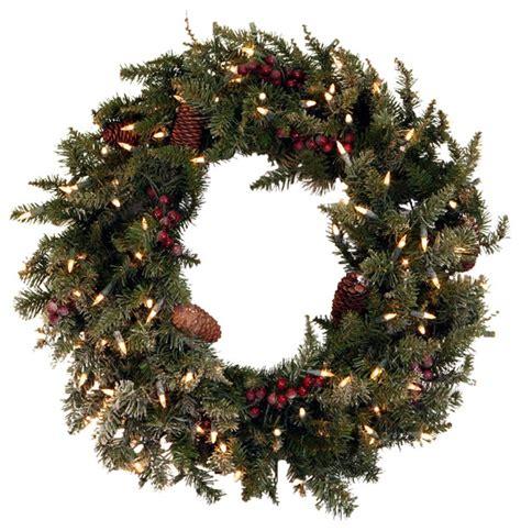 30 quot pre lit frosted edina fir artificial christmas wreath