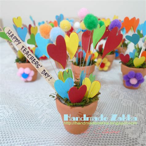 Handmade Teachers Day Gift - handmade zakka by elaine a pot of hearts