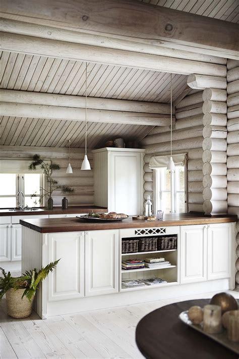 cabin kitchen design black stained log cabin in danmark cabin interior design
