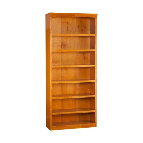 shop atlantic furniture caramel latte 7 shelf bookcase at