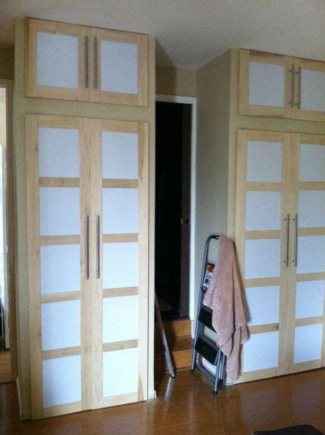 Diy Shoji Screen Closet Doors Shoji Style Sliding Closet Doors From Scratch Computers Doors And Style