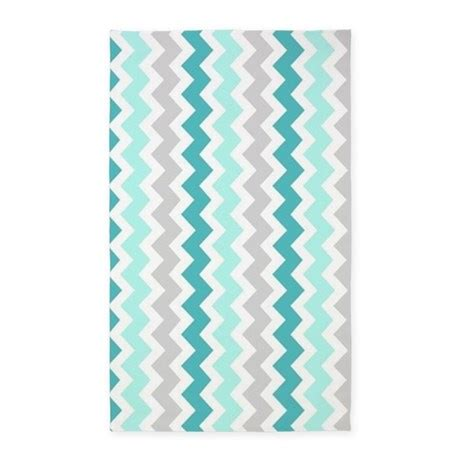 Grey And White Chevron Area Rug Teal Grey White Chevron 3 X5 Area Rug By Dreamingmindcards