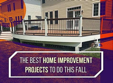 the best home improvement projects to do this fall