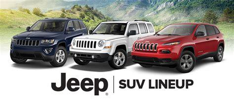 jeep lineup jeep suv lineup in tn gossett cjdr fiat