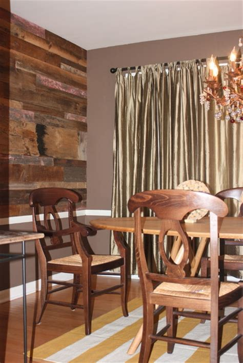 dining room wall rustic chicago by reclaimed wood chicago