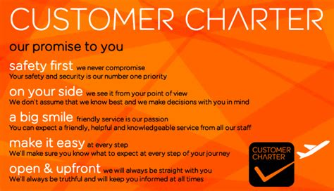 customer care charter template easyjet s customer charter easyjet