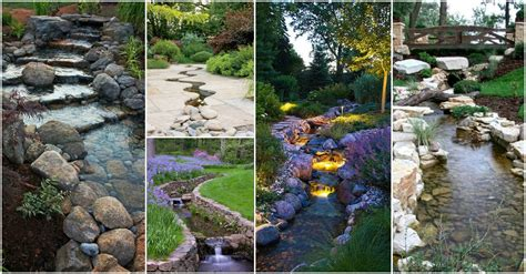 backyard stream ideas 20 outstanding natural garden stream designs that will