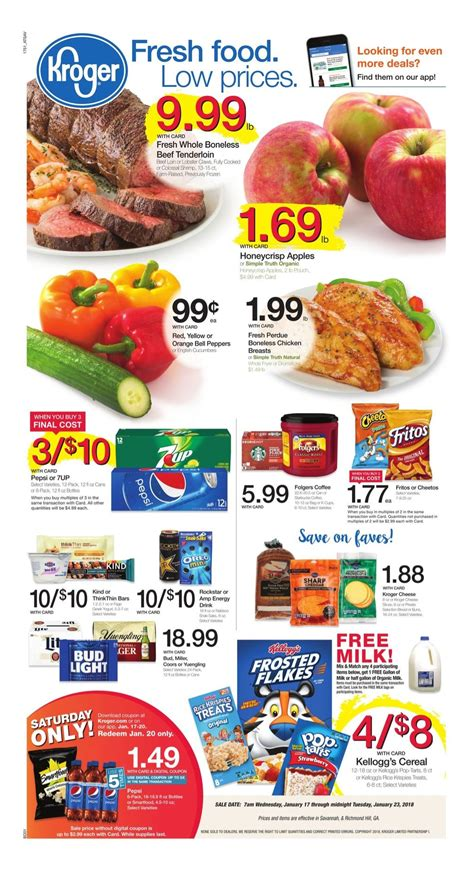 kroger weekly deals and coupon matchups feb 5th 11th kroger weekly ad kroger ad specials