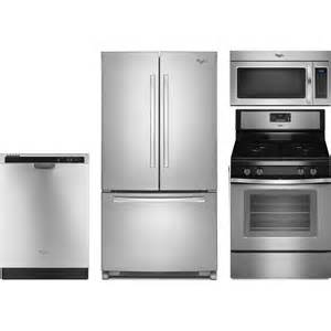 whirlpool 4 kitchen package with wfg515s0es gas range wrf535smbm refrigerator wdf520padm