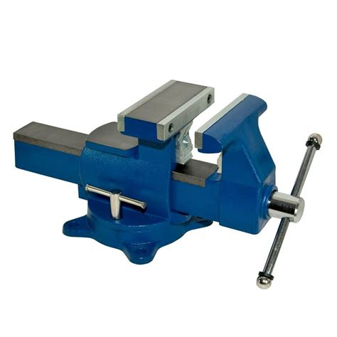 bench vise home depot yost 3 1 2 in heavy duty combination pipe and bench vise