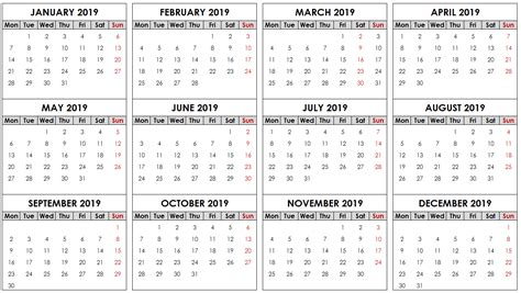 printable yearly calendar  task management