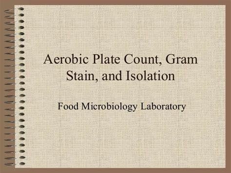 Monalisa Rubiah aerobic plate count