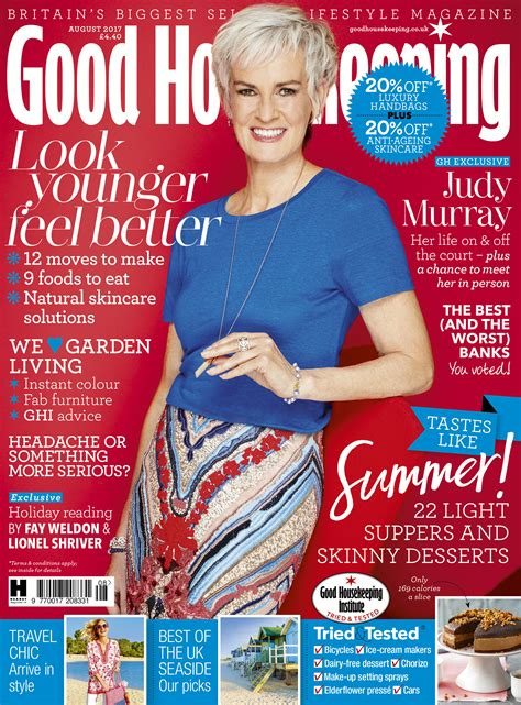 good housekeeping com judy murray is good housekeeping august 2017 cover star