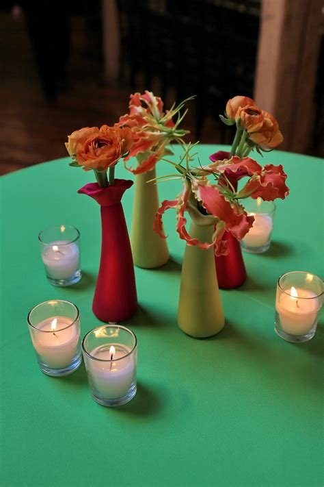 adorable cocktail table centerpieces for the bride