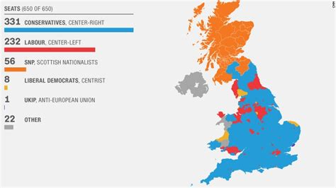 map uk election results uk david cameron defies polls with clear victory state
