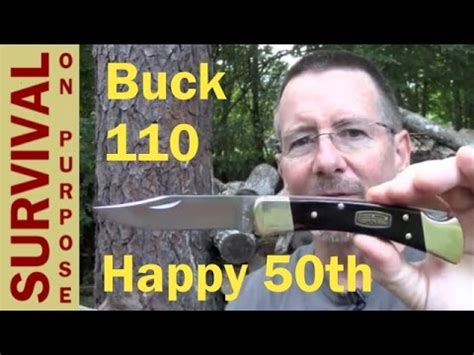 buck 110 100 year anniversary knife buck knives 110 folding 50th anniversary model