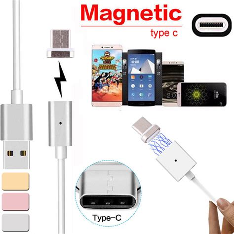 Xiaomi Redminote 3 Conector Cas 2 4a magnetic type c usb 3 1 charging cable adapter for