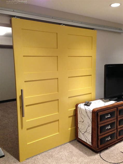 Yellow Barn Door Modern Yellow Barn Door Project By Calgary Interior Designer 187 Natalie Fuglestveit Interior Design