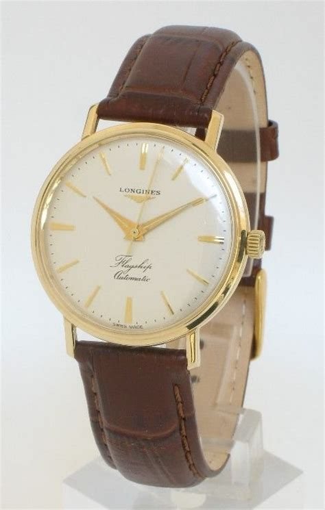 exceptional solid 9ct gold longines flagship automatic