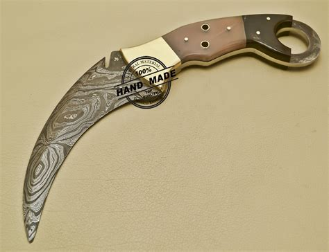 custom karambit knife damascus karambit knife custom handmade damascus karambit