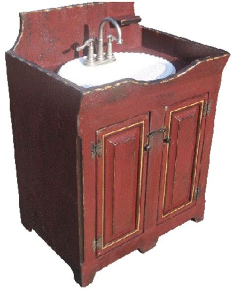 primitive bathroom vanity cute primitive sink for bathroom home decorating pinterest