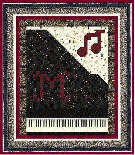 Piano Quilt Pattern by Beautiful By Gail Kessler Quilting Pattern