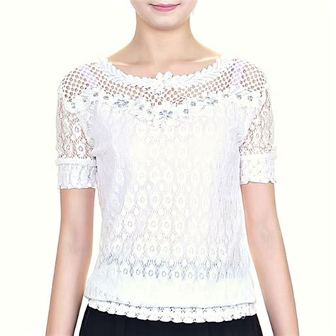 summer embroidery blouse aliexpress buy new 2015 summer lace tops fashion
