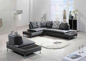 Grey Leather Living Room Furniture Modern Gray Leather Sofa Hereo Sofa