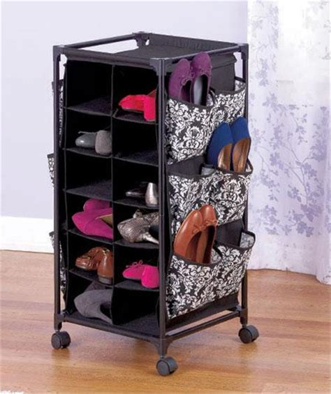 rolling shoe storage fashion design damask or lattice pattern rolling shoe