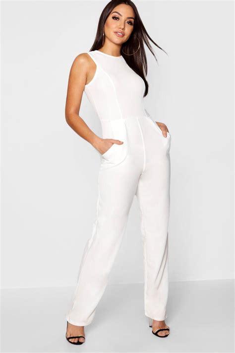 ebay jumpsuit boohoo womens jenny round neck textured jumpsuit ebay