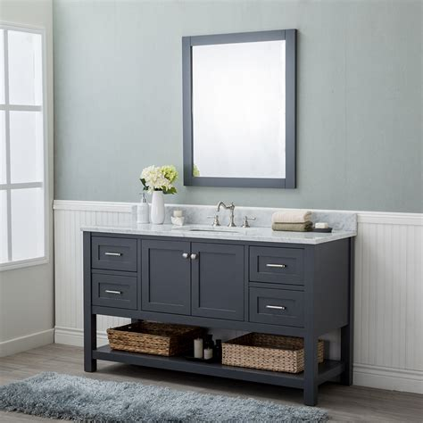 bathroom vanities wilmington nc alya bath wilmington 60 in single bathroom vanity in gray