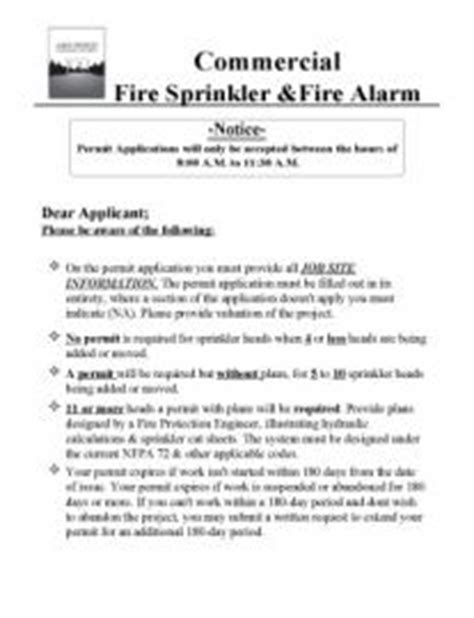 Commercial Fire Sprinkler Fire Alarm Packet City Of Lake Oswego Oregon Official Website Alarm Testing Notice Template
