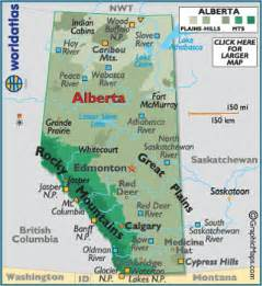 alberta canada large color map