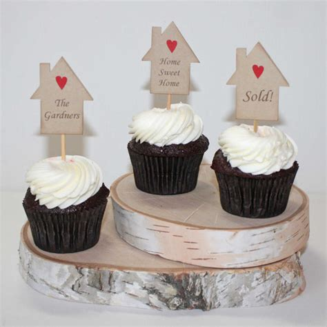 new home cake decorations housewarming cupcake toppers housewarming party cake picks