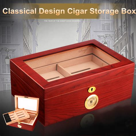 humidor for sale good price quality sale wooden red color cigar humidor