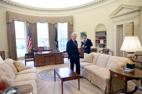 Oval Office Drapes by File Barack Obama And Bill Clinton In The Oval Office Jpg