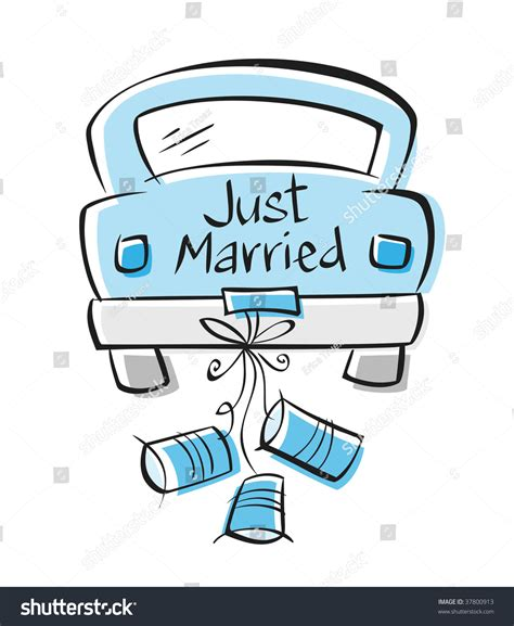 foto clipart just married stock vector illustration 37800913