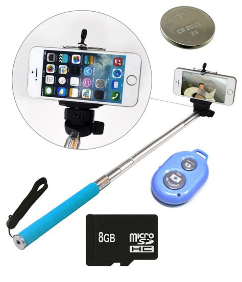 Lu Selfie Spotlight With Speaker Portable Bass finest selfie stick with blutooth remote 8 gb sd card and