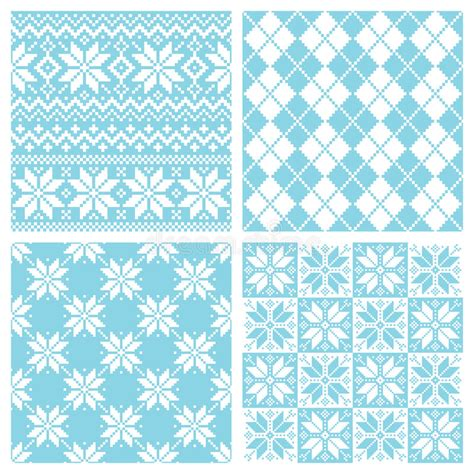 nordic pattern ai nordic pattern stock vector image of knit craft