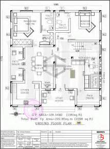 Floor Plan Com Floor Plan And Elevation Of 2398 Sq Ft Contemporary Villa