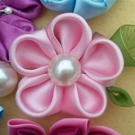 imagenes flores kanzashi 17 mejores im 225 genes sobre mis broches kanzashi en