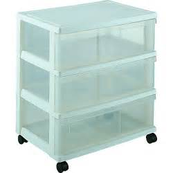 iris plastic wide three drawer storage chest